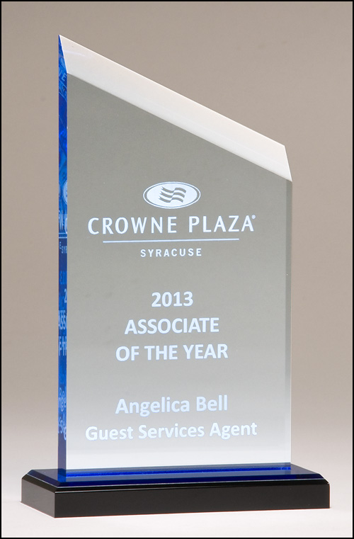 Zenith Series Blue Acrylic Engraved Award