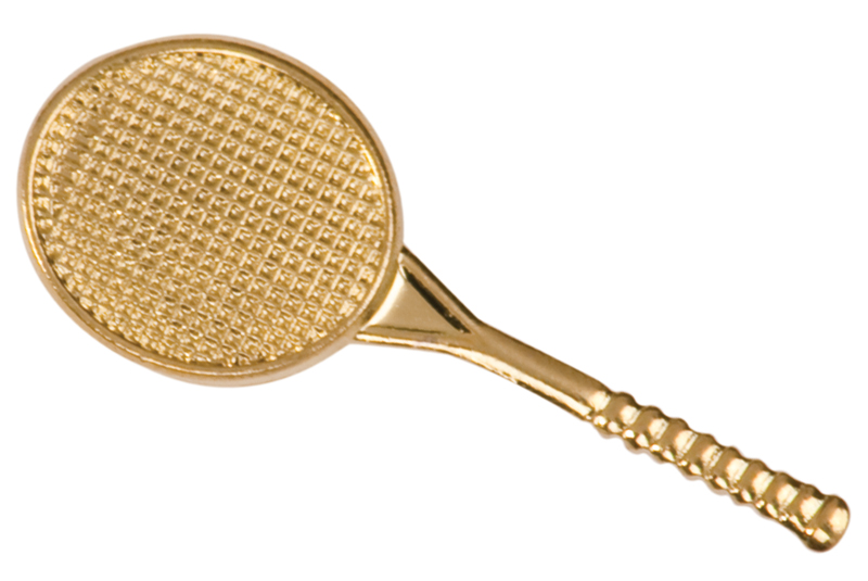 Tennis Racket Chenille Sport Pin
