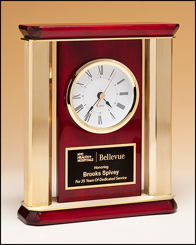 BC1045 Personalized Rosewood Piano Fiish Clock with