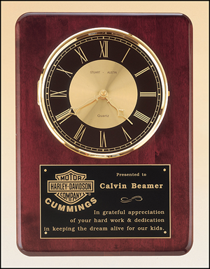 BC98 Personalized Rosewood Wall Clock