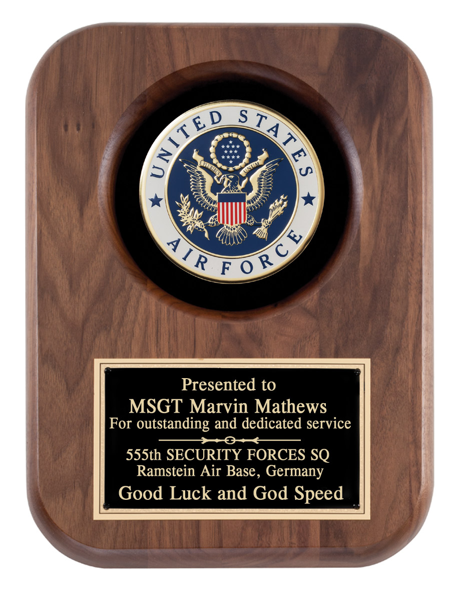 US Air Force Recognition Wall Plaque