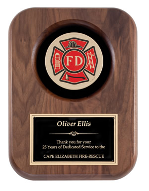 Fire Department Recognition Plaque with Insignia