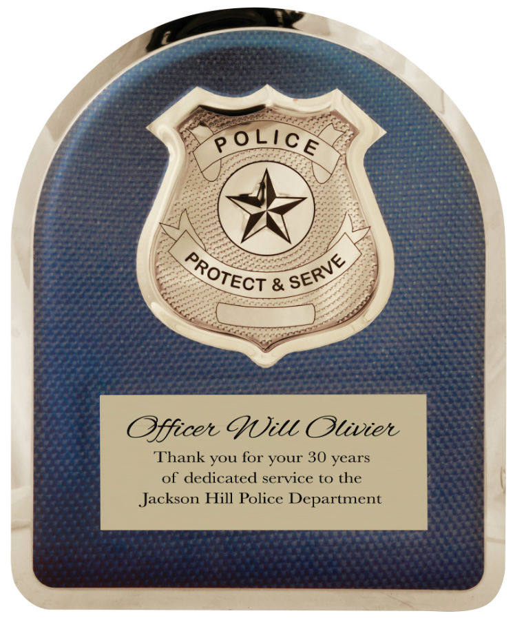 HERO Police Plaque