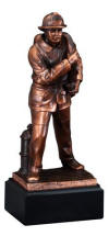 Resin Fireman Trophy on Base