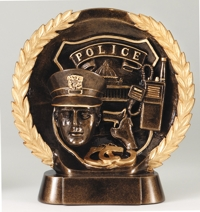 Police Resin Award Trophy