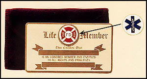 Fire EMS Police Life Membership Card