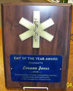 EMS EMT Star of Life Plaque