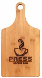 Bamboo engravable paddle shape cutting board