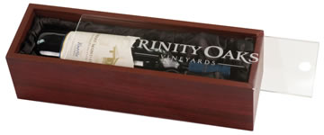 Rosewood Finish Wine Case