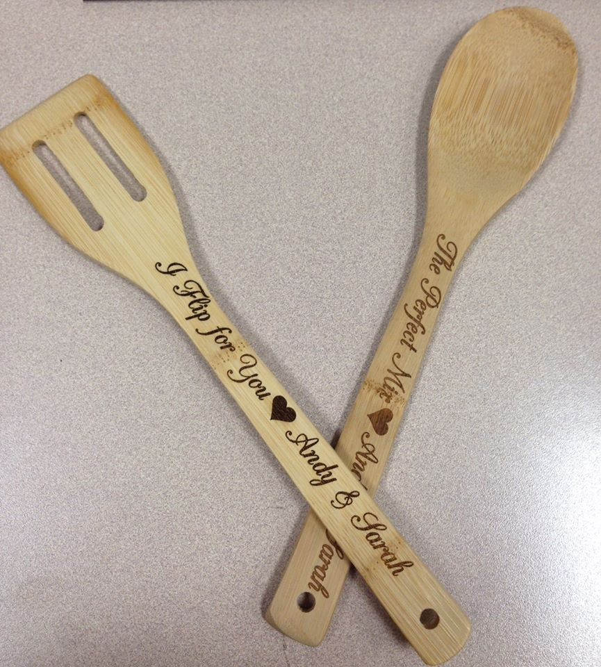 Engravable Bamboo Spoon Spatula