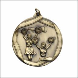 MS605 Engravable Cheerleading Medallion