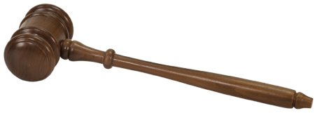 "Engravable 10"" Walnut Mens Gavel"