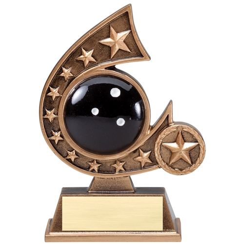 Bowling Comet Resin Trophy