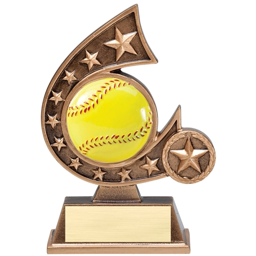 Softball Comet Resin Trophy