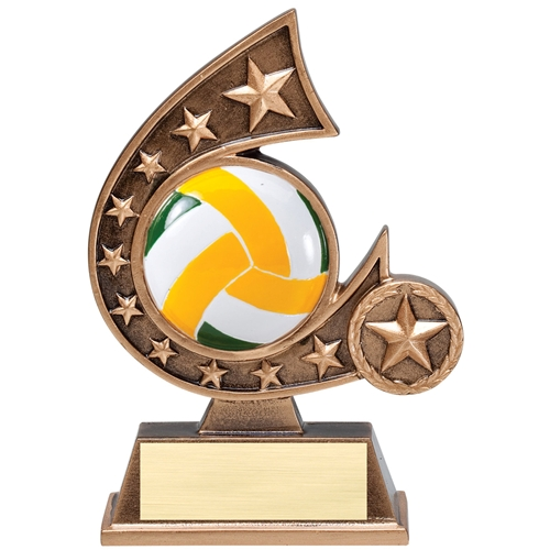Volleyball Comet Resin Trophy
