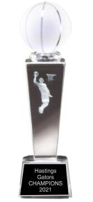 Basketball Crystal Trophy