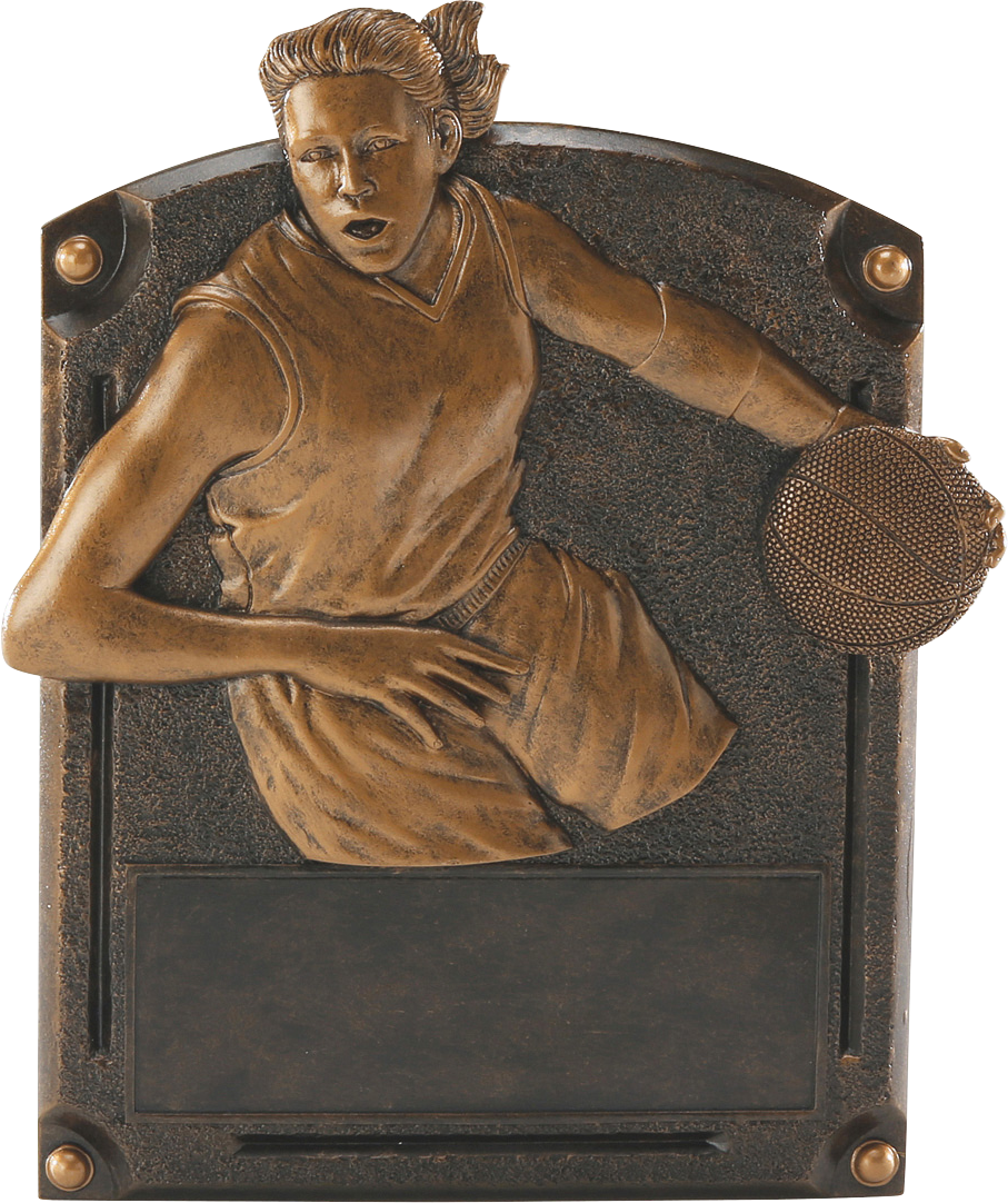 Female Basketball Legends Resin Trophy