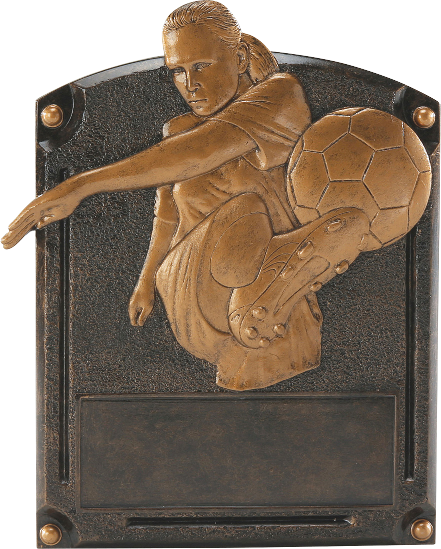 Female Soccer Legends Resin Trophy