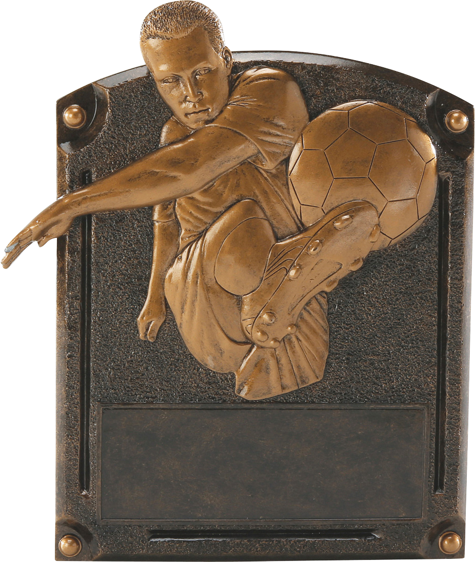 Male Soccer Legends Resin Trophy