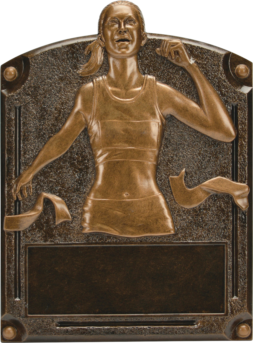Female Track Legends Resin Trophy