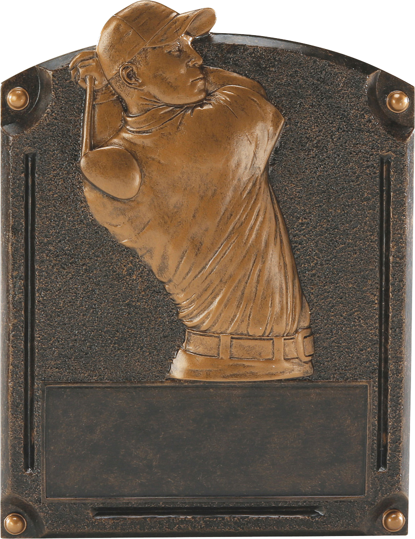Male Golf Legends Resin Trophy