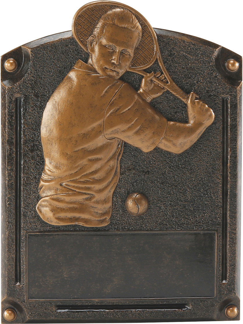 Male Tennis Legends Resin Trophy