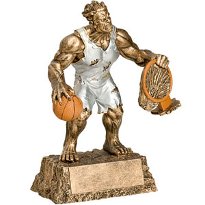 Personalized Basketball Monster Resin Trophy