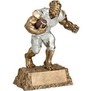 Personalized Football Monster Resin Trophy