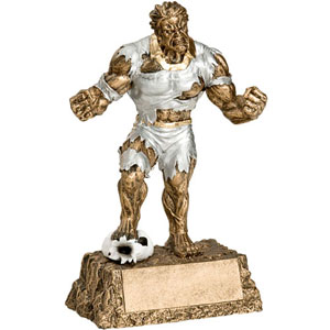 Personalized Soccer Monster Resin Trophy