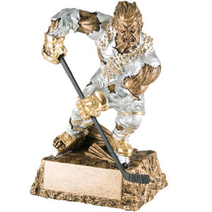 Personalized Hockey Monster Resin Trophy