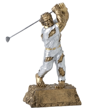 Personalized Golf Monster Resin Trophy