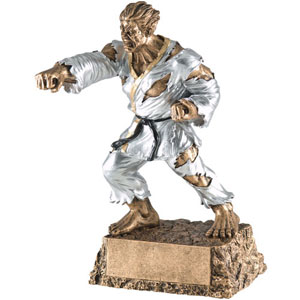 Personalized Karate Monster Resin Trophy