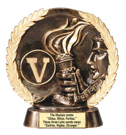 Victory Plate Resin Trophy