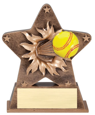 Softball Starburst Resin Trophy
