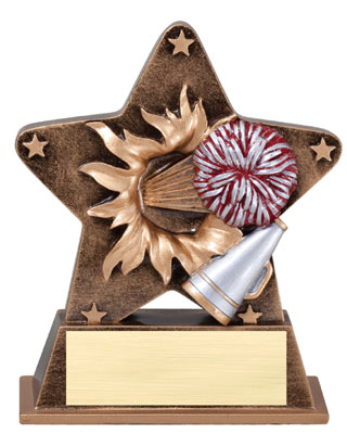 Cheerleading Starburst Resin Trophy