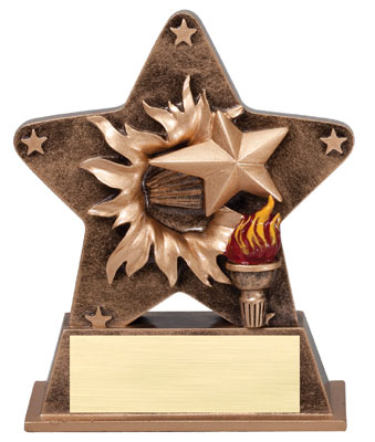 Victory Starburst Resin Trophy