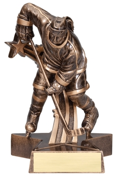 Female Hockey Superstar Resin Trophy