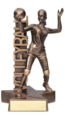 Female Volleybal Resin Trophy