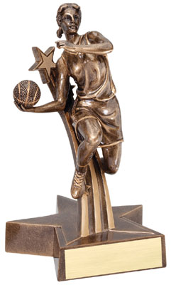 Basketball Superstar Resin Trophy