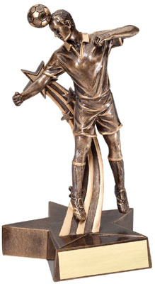 Male Soccer Superstar Resin Trophy