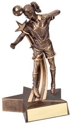 Female Soccer Superstar Resin Trophy