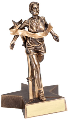 Female Track Superstar Resin Trophy