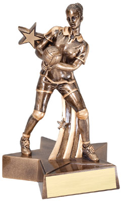 Female Volleyball Superstar Resin Trophy