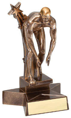 Male Swimming Superstar Resin Trophy