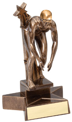 Female Swimming Superstar Resin Trophy